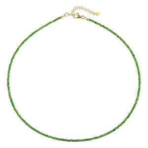 Russian Diopside Silver Necklace 1127RE