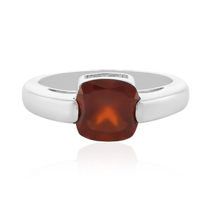 Hessonite Garnet Silver Ring 1147IT