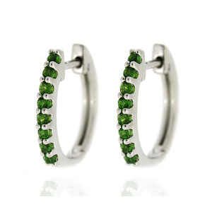Russian Diopside Silver Earrings 1203PR