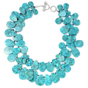 Turquoise Silver Necklace (Dallas Prince Designs) 1321KA