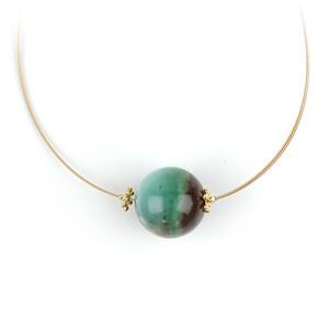 Chrysoprase Silver Necklace 1360LR