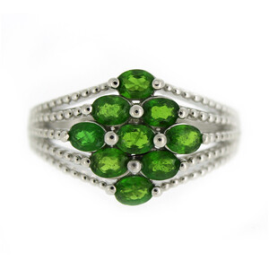 Russian Diopside Silver Ring 1453PI