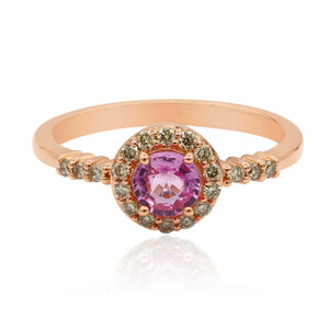 9K Pink Sapphire Gold Ring (Annette) 1470SK
