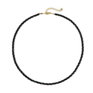 Black Spinel Silver Necklace 1471QZ