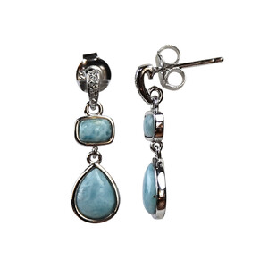 Larimar Silver Earrings 1472PQ