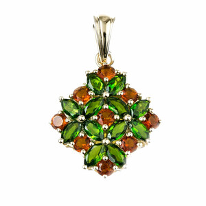 9K Russian Diopside Gold Pendant 1526LZ