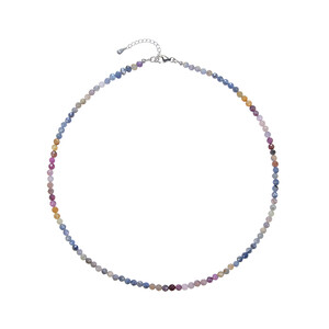 Tanzanian Ruby Silver Necklace 1564TP