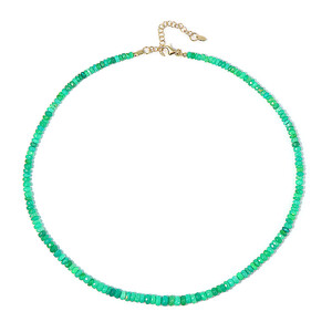 Green Opal Silver Necklace 1605ET