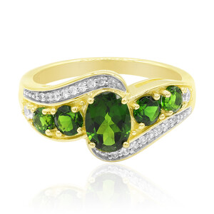 9K Russian Diopside Gold Ring 1757OI