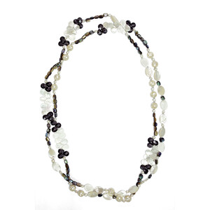 Mother of Pearl Silver Necklace (Dallas Prince Designs) 1775VE