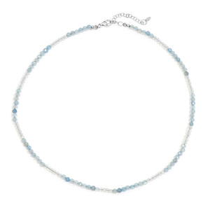 Aquamarine Silver Necklace 1781AC