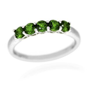 Russian Diopside Silver Ring 1812SY