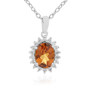 Hessonite Garnet Silver Necklace 1869FC