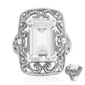 White Topaz Silver Ring 1909JH