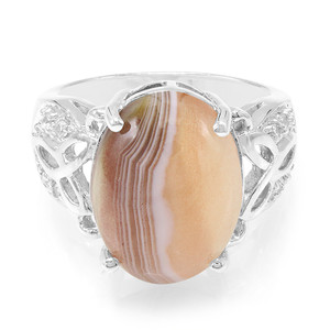 Botswana Agate Silver Ring 2041BY