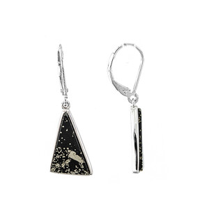 Pyrite in Shale Silver Earrings 2064AW
