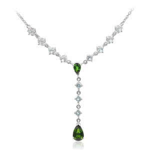 Russian Diopside Silver Necklace 2086NV