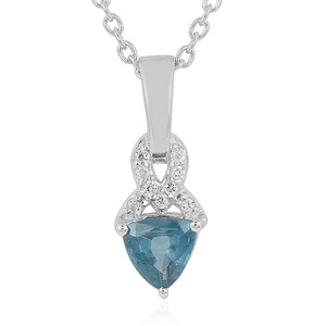 Teal Kyanite Silver Necklace 2220ST