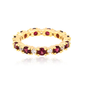Noble Red Spinel Silver Ring 2236RB