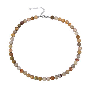 Petrified Coral Silver Necklace 2251EG
