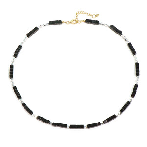 Black Hematite Silver Necklace 2289GF
