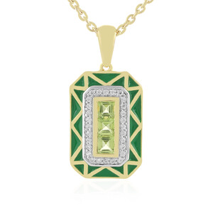 Peridot Silver Necklace 2339WG