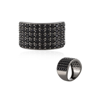 Black Spinel Silver Ring 2350PN