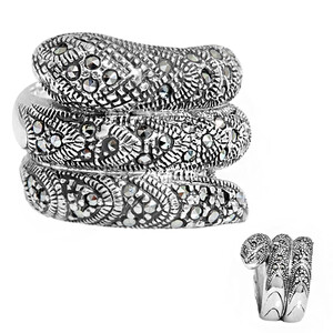 Marcasite Silver Ring 2437GG
