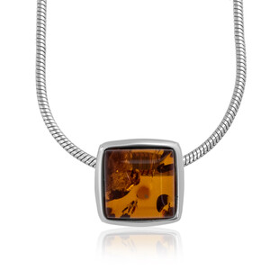 Baltic Amber Silver Necklace (dagen) 2479AR