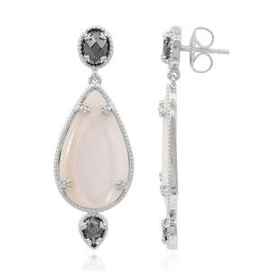 Mother of Pearl Silver Earrings (Dallas Prince Designs) 2501IL