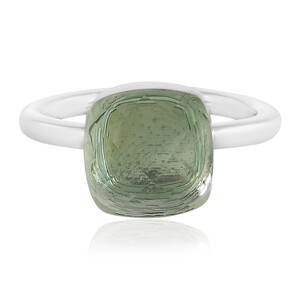 Green Amethyst Silver Ring 2570OW