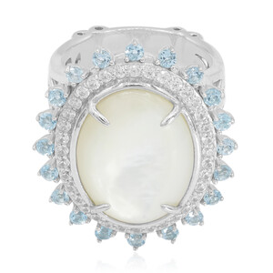 Mother of Pearl Silver Ring (Dallas Prince Designs) 2608UO