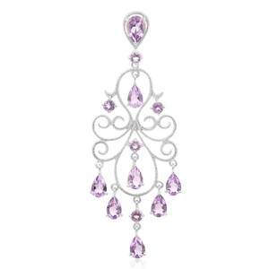 Amethyst Silver Pendant 2612BE