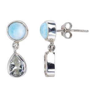 White Topaz Silver Earrings 2625FV