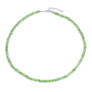 Chrysoprase Silver Necklace 2636RU