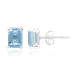 Swiss Blue Topaz Silver Earrings 2653OM