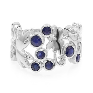 Blue Sapphire Silver Ring 2698OO