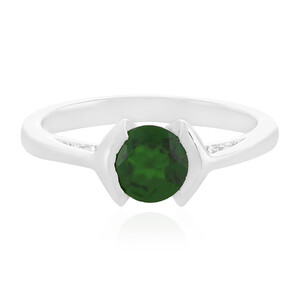 Russian Diopside Silver Ring 2736EG
