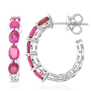 Mozambique Ruby Silver Earrings 2809KB