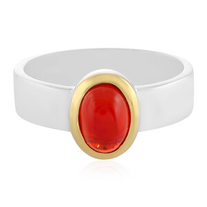 Red Ethiopian Opal Silver Ring 2818OW