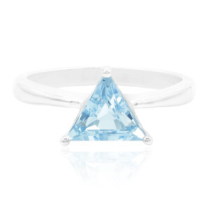 Swiss Blue Topaz Silver Ring 2823GW