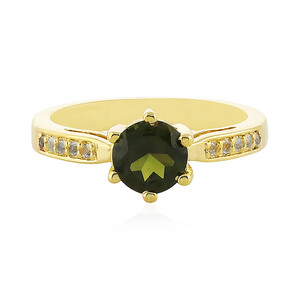 Green Tourmaline Silver Ring 2825LC