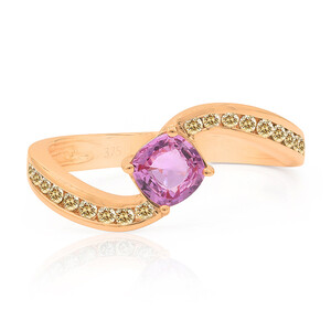 9K Pink Sapphire Gold Ring (Annette) 2880SH