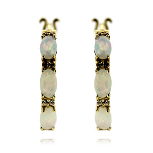 Welo Opal Silver Earrings 2977HK