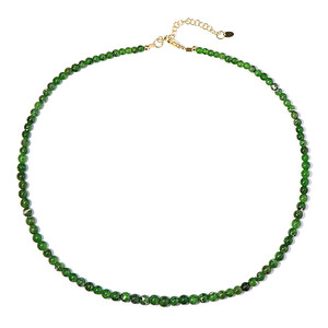Collana in argento con Diopside Russo 3004MD