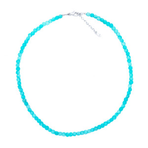 Amazonite Silver Necklace 3038JK