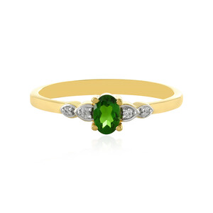 Russian Diopside Silver Ring 3092UX
