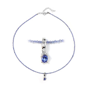 Tanzanite Silver Necklace 3209MI