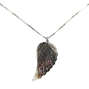 Mother of Pearl Silver Necklace 3227EK