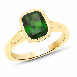 9K Russian Diopside Gold Ring 3398ED
